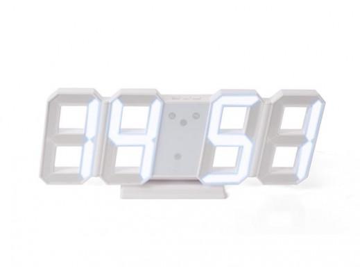 ZEGAR LED 3D - BIAŁE CYFRY