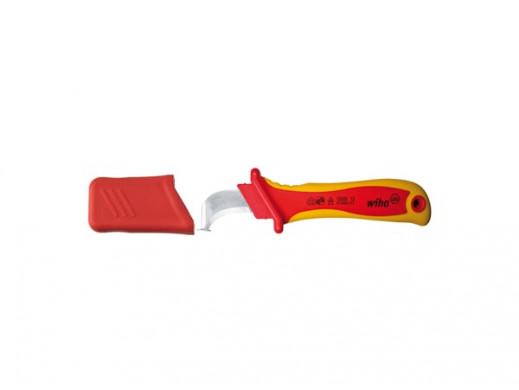 Wiha Nóz do usuwania plaszcza ostrze hakowe zprowadnica do kabli oprzekroju okraglym wopakowaniu blistrowym (36053) 200 mm