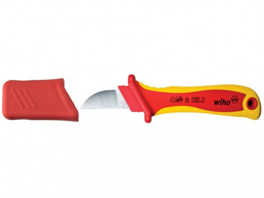 Wiha Nóz do usuwania plaszcza proste ostrze do kabli o przekroju okraglym w blistrze (38798) 200 mm