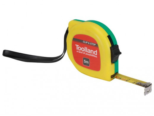 MEASURING TAPE - CLIP AND STOP - 5 m - 13 mm