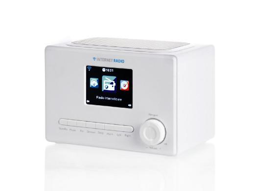 "RADIO INTERNETOWE WIFI1002 3.2"" color LCD białe ART"