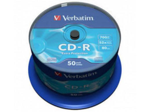 CD-R Verbatim 52x Cake 50Pack 43351