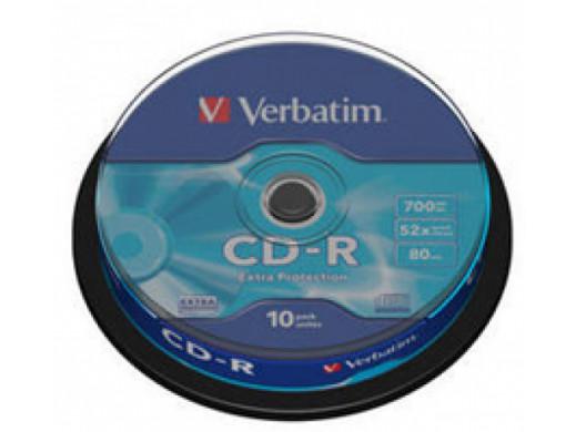 CD-R VERBATIM EP 52x Cake 10Pack 43437