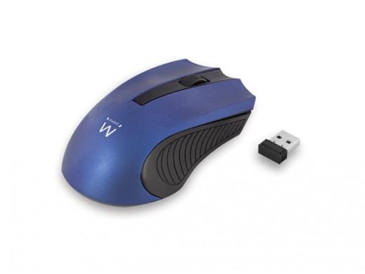 EWENT - WIRELESS OPTICAL MOUSE - USB nano - blue - 1000 dpi