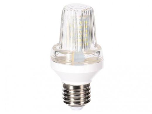 MINI LAMPA STROBOSKOPOWA LED - GNIAZDO E27 - 3 W - BIALY