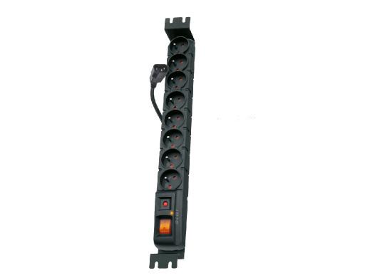 FILTR PRZECIWPRZEPIĘCIOWY ACAR S8 RACK IEC czarny 5M