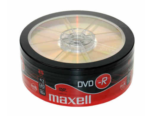DVD-R MAXELL 4,7 GB 16x SP.25szt