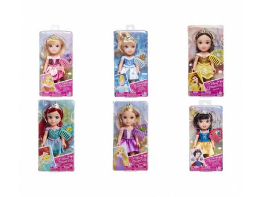 Disney Princess mini lalki 15 cm + grzebień ast