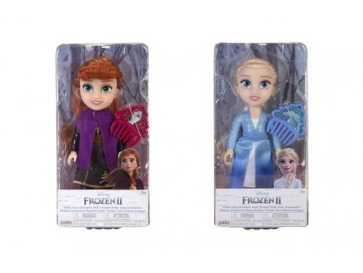 Frozen Kraina Lodu 2 - Anna / Elsa lalka + grzebień ast.