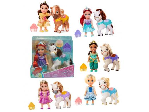 Disney Princess mini lalka i kucyk ast.