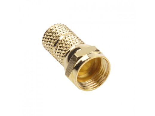 Wtyk SAT F 6,8 mm GOLD CU...