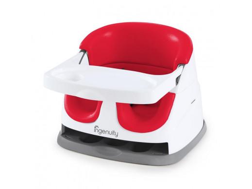 Ingenuity Krzesełko 2w1 Baby Base Poppy Red