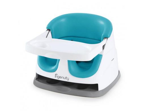 Ingenuity Krzesełko 2w1 Baby Base Peacock Blue