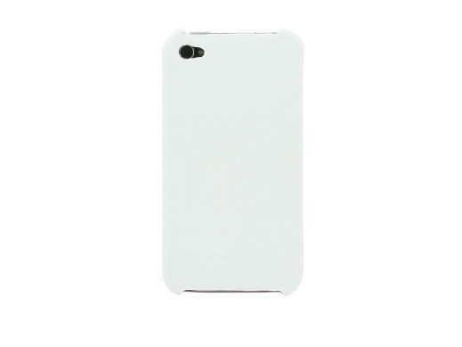 ETUI POKROWIEC LEATHER SNAP COVER IPHONE 4/4s white MELKCO