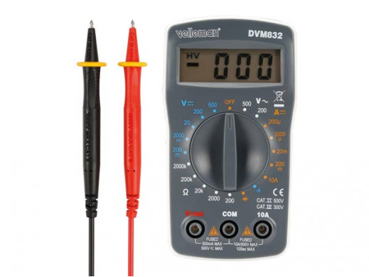 MULTIMETR CYFROWY - KAT. II 500 V / KAT. III 300 V - 10 A - WARTOŚCI DO 1999