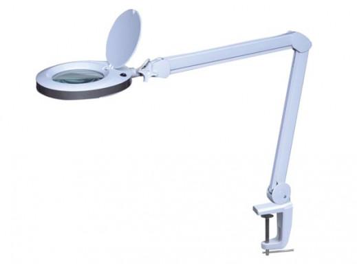 LAMPA BIURKOWA LED Z LUPA 8 DIOPTRII - 8 W - 60 BIALYCH DIOD LED