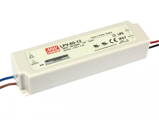 SWITCHING POWER SUPPLY - SINGLE OUTPUT - 60W - 12 V