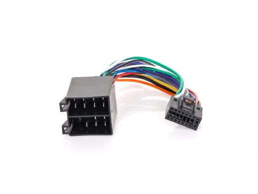 Złącze do Kenwood KRC-256 czarna 16pin-ISO-KK256