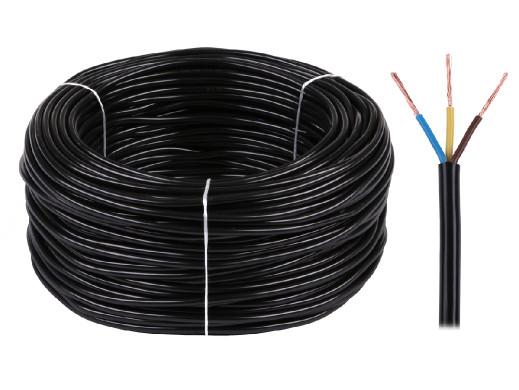 Kabel elektryczny OMY 3x1 300/300V czarny