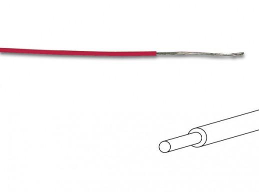 KABEL MONTAŻOWY Ø0.5mm (0.20mm²) CZERWONY, PEŁNY RDZEŃ, DŁUGOŚĆ NA ROLCE: 100m