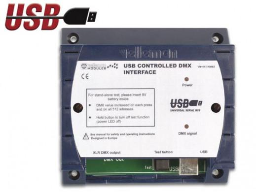 STEROWNIK DMX Z PORTEM USB