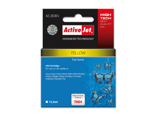 TUSZ ActiveJet do drukarki Epson (T0804) żółty