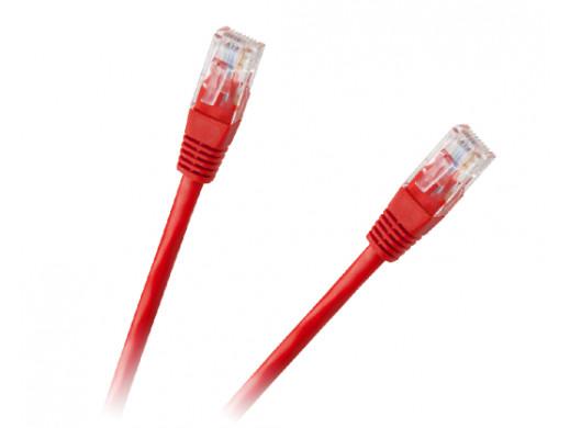 Patchcord kabel UTP 8c wtyk-wtyk 1.0m CCA czerwony