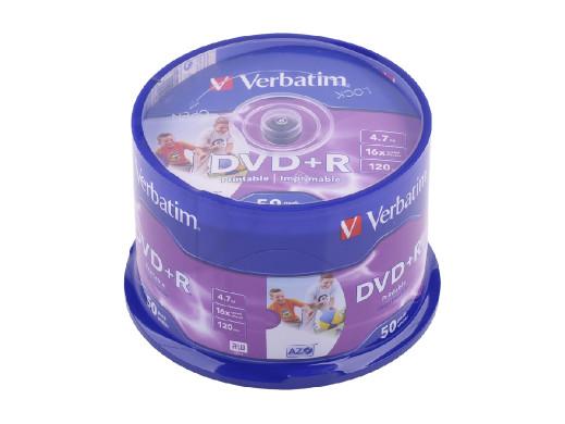 DVD+R VERBATIM 4,7 GB 16x PRINT. AZO FULL CAKE 50szt.