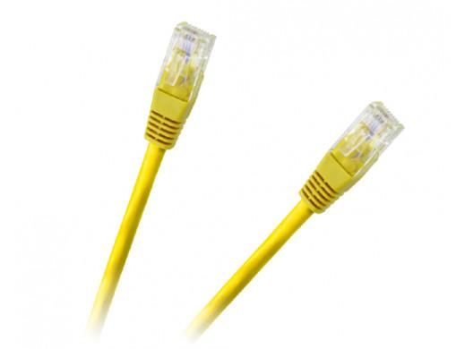 Patchcord kabel UTP 8c wtyk-wtyk 1.0m CCA żółty  cat.6e