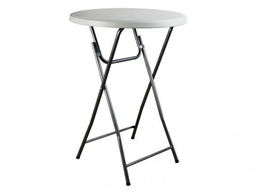 FOLDING TABLE, ROUND Ø81 x...