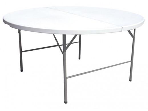 FOLDING TABLE, ROUND Ø122 x...