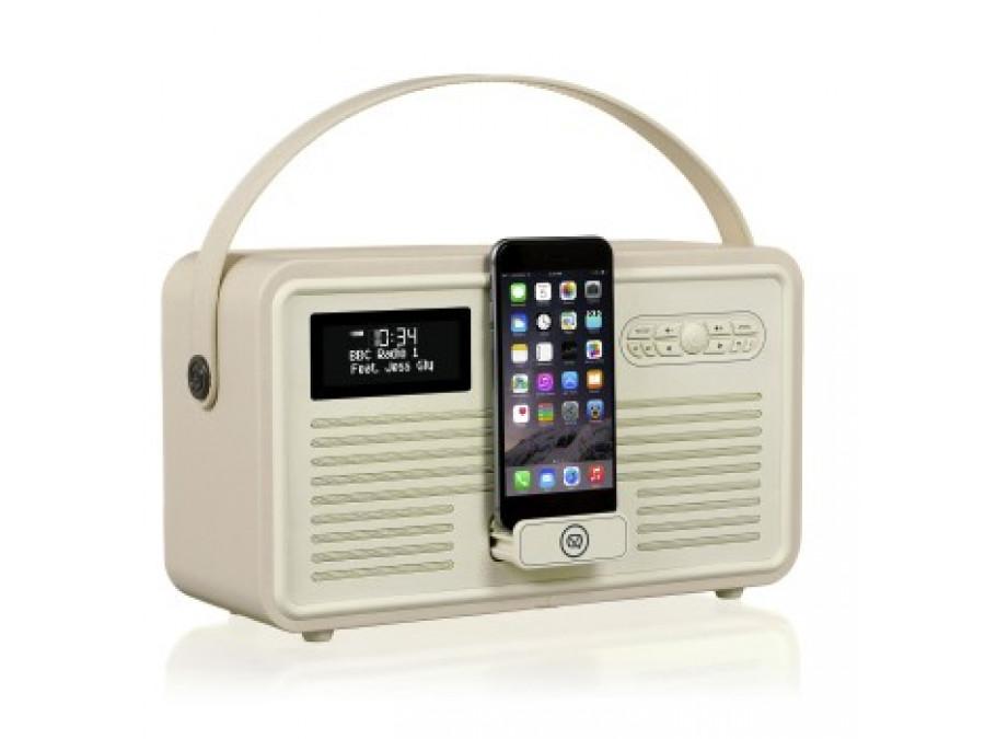 Retro Mk II DAB+ Radio ze stacją dokującą Apple kremowe