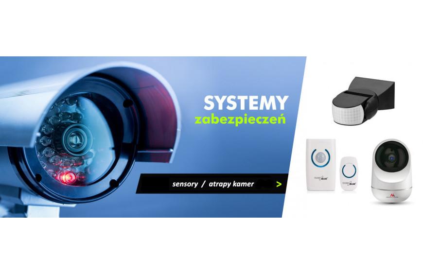Czujniki ruchu i atrapy kamer - ochrona przed kradzieżą.